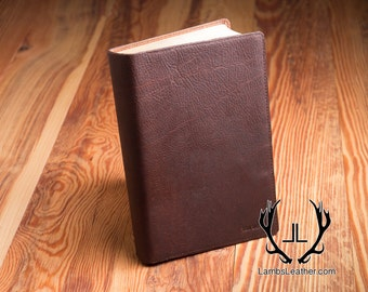 Womens Leather Bible Cover, Basic Leather Book Cover, Genuine Leather Bible Cover, Leather Book Cover,Leather Bible Cover, Book Cover, WBC#5