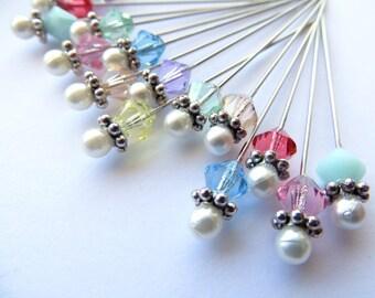 Swarovski Hat Pin / Stick Pin / Lapel Pin / Hijab Pin / Scarf Pin / Spring Accessories ~ Swarovski Minis