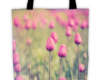 """Spring Tulips All-Over Tote (15"""" x 15"""")"""