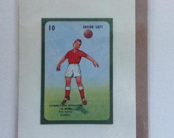 Original 1950s 'Goal' card Charlton Athletic