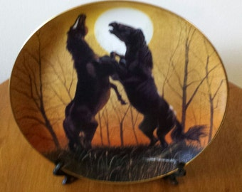 Stallions At Sunrise Limited Edition Plate