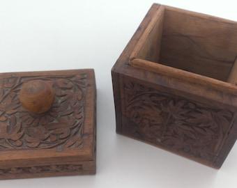 Jewelry Box, Vintage Box, Wooden Box // Handmade wooden Jewelry Box