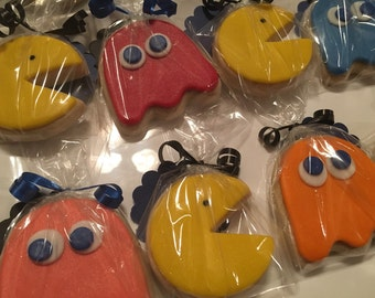 Pacman inspired and Ghost Gamer Sugar Cookies