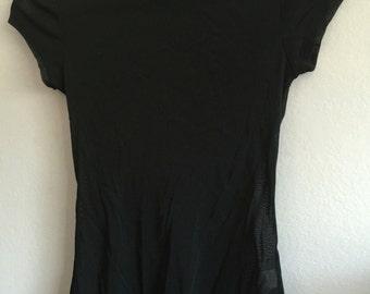 Black Mesh Short Sleeve