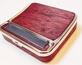 Rolling Machine & Cigarette Case : Cigarette roller, rollie, hand roll, - Real Mahogany Wood 70mm
