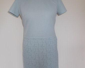 25% Off Summer Sale Vintage dress 60s mod scooter dress in baby blue size medium
