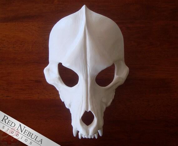 Wolf Skull Mask Blank Cast Resin Skull Canine By