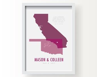 States Guestbook PRINT // Wedding, Anniversary // Custom Printed Design