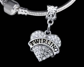 Twirling charm Fits European style bracelet and necklace twirling gift twirling charm twirling jewelry