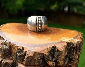 Sterling silver size 6 statement ring