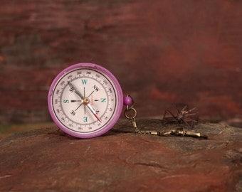 Vintage Compass, Pocket Sized Compass, Portable Compass, Vintage Decor, Orientation, Survival Compass, Keychain Compass, Working Compass