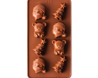 CHRISTMAS TREE, SANTA, And Bear Silcone Chocolate Mold