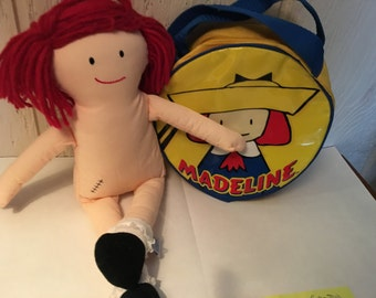Madeline  Plush Rag Doll Eden 1994 Eden 15 inch and purse