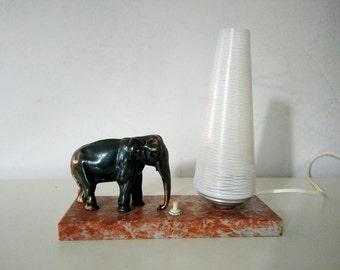 Very pretty lamp art deco elephant - English vintage