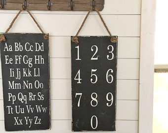Alphabet Chart or Number Chart