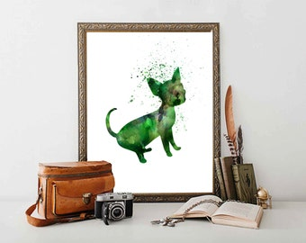 Chihuahua Dog Printable Chihuahua Art Pet  Wall  Art Pet shop art Wet Clinic Decor