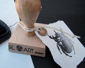 Scarab Rubber Ink Stamp,Scrapbook Ink Stamp Decoration,Botanical Illustration Ink Stamp  -0856081016-