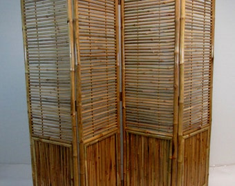 "Bamboo Screen, 4 Panel Self Standing Screens, 72""W x 72""H, BSC-78"