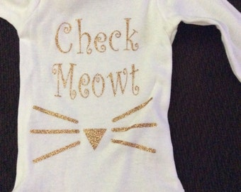 Check meowt baby onesie!!! Cute to show off your baby in style.