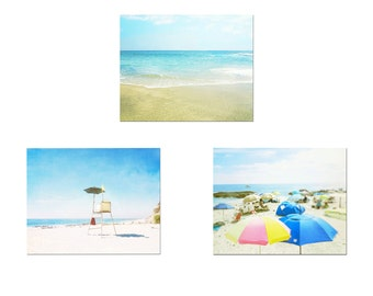 Beach Print Set, Photography Prints, Set of 3, Beach Pictures, California Wall Art, Laguna Beach, Coastal Decor, Ocean Art, Beach Photo Set