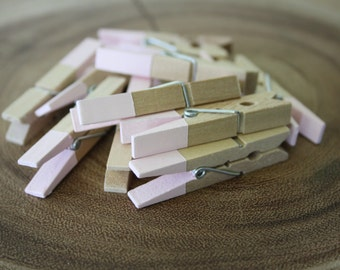 Mini Clothespins. Small Clothespins. Light Pink Clothespins. Wedding Decorations. Place Card Holders. Party Favors. Party Decorations. Pink