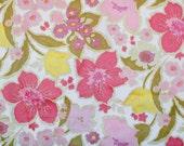 Pink yellow vintage flora...