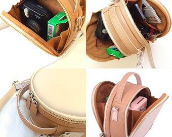Fujifilm Instax Mini Camera Case Shoulder Bag Beige with Protective Layer Inside