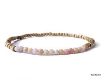 Tulsi Pink Peruvian Opal Beads