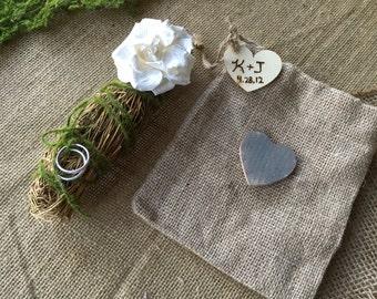 Ring bearer pillow alternative/ ring bearer chamomile leaves