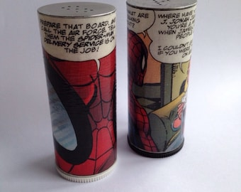 Spiderman salt and pepper shakers