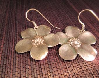 Happy Flower Sterling Silver Earrings