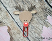 Rudolph the Red Nosed Reindeer Page Clip Planner Clip Bookmark FiloFax Erin Condren Day Planner Kikki K Plum Paper Planner Inkwell Press