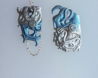 Mellow. handmade melted plastic earrings  No 0307