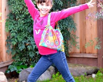 Groovy Girl's Purse /  Pink tote / Little girl bag / Pink bag / Girl's bag /