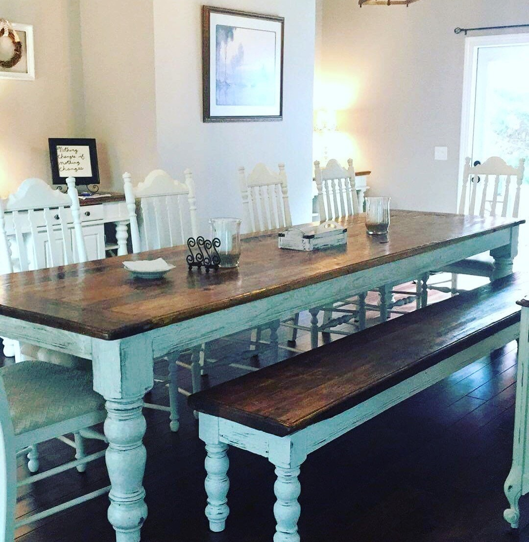 12 Foot Dining Room Tables: 10 Foot Heart Pine Table And Bench By WellsWorksFurniture