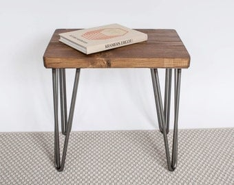 Andy Stool | Hairpin Stool | Hairpin Side Table | Reclaimed Wood Stool | Reclaimed Wood Side Table | Hairpin Chair
