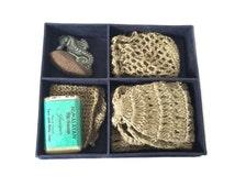 Mato Natural Spa Tool Kit - Exfoliating Back Scrubber - Face Towel - Soap Ceramic Foot Scrubber - Natural Spa Gift Set - Himalayan Spa Kit