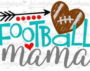 SVG, DXF, EPS Cut file, Football Mama, Football cut file socuteappliques, SvG Sayings, football svg, football sister svg, football mom svg