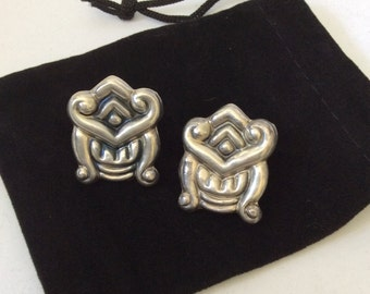 SALE Los Ballesteros Taxco Sterling Silver Earrings