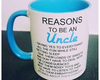 Reasons to be a uncle mug coffee mug personalized mug brother gift coffee baby announcement uncle gift new uncle uncle coffee mug funny mugs