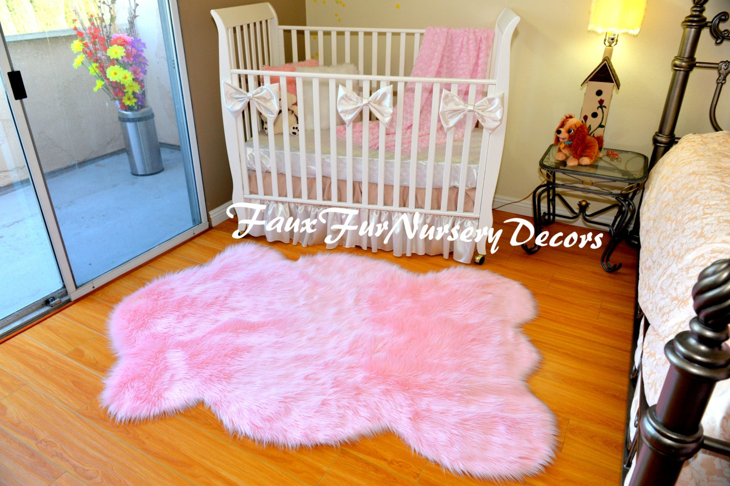 nursery area rug light pink shaggy sheep in picture assorted. Black Bedroom Furniture Sets. Home Design Ideas