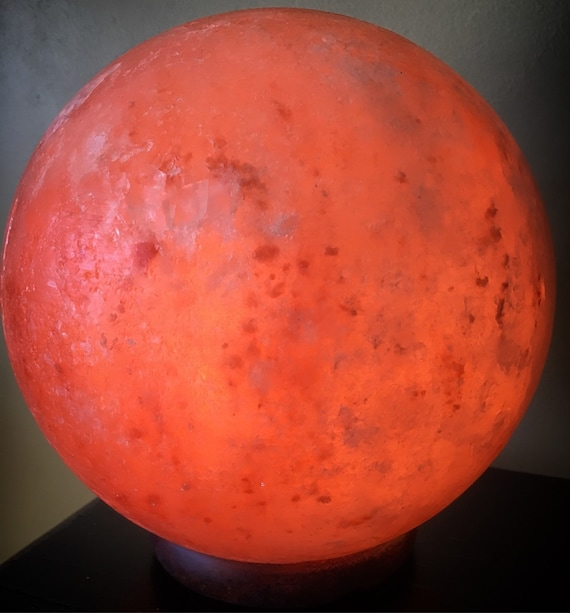 Salt Lamps Overnight : Pink Himalayan Salt Lamp Sphere Himalayan salt night light