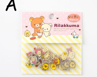 NEW RILAKKUMA Flake Stickers Pack 80PCS PINK