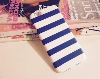 Retro Nautical Blue and White Stripe Phone Case iPhone 6/ 6s
