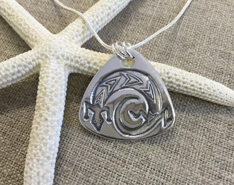 Lizard Fine Silver Pendant