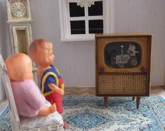 Vintage TV television wood Sandman doll approx. 1950