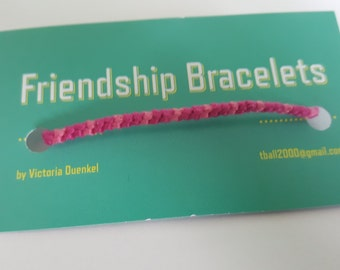D12 light pink/pink/dark pink friendship bracelet