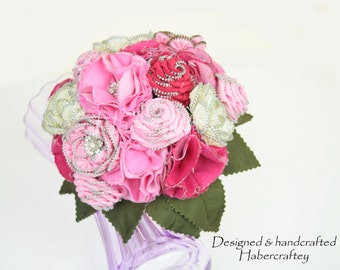 "Stunning Zipper Flower ""Ophelia"" keepsake bridal bouquet"