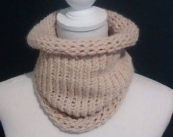 Circular scarf  alpaca and wool