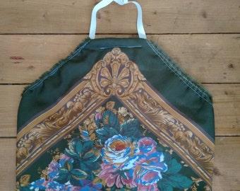 Vintage Reversible Floral Halter Scarf Top